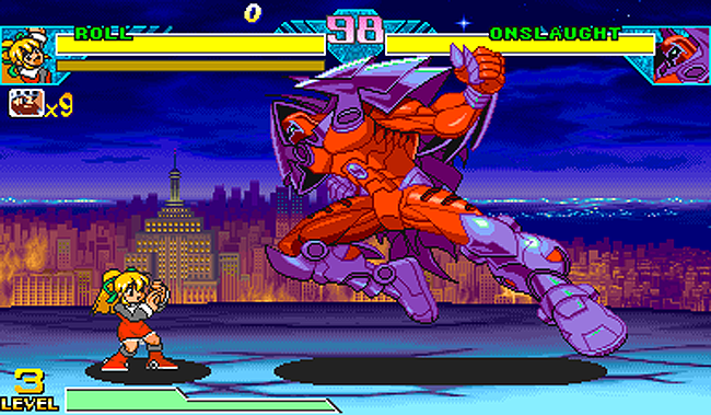 Marvel vs. Capcom, Roll vs. Onslaught